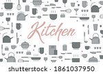 vector background and lettering ... | Shutterstock .eps vector #1861037950