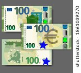 Set Of New Paper Money In The...