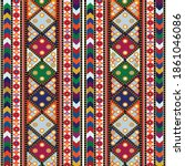 traditional pattern of floral...   Shutterstock .eps vector #1861046086