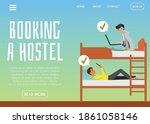 vector landing page template... | Shutterstock .eps vector #1861058146