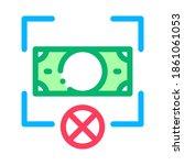 fake banknote orientation icon... | Shutterstock .eps vector #1861061053