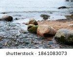 Large Cobblestones On The River ...