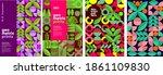 geometric prints  patterns ... | Shutterstock .eps vector #1861109830