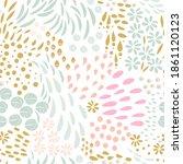 vector organic seamless... | Shutterstock .eps vector #1861120123