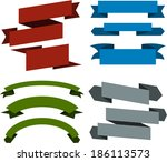 simple colorful paper banners ... | Shutterstock .eps vector #186113573
