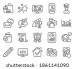 education icons set. included...   Shutterstock .eps vector #1861141090