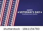 usa happy veterans day ... | Shutterstock .eps vector #1861156783