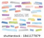 illustration of watercolor... | Shutterstock .eps vector #1861177879