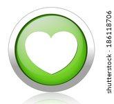 heart  button   Shutterstock .eps vector #186118706