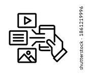 digital content icon.... | Shutterstock .eps vector #1861219996
