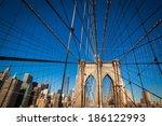 brooklyn bridge in new york | Shutterstock . vector #186122993