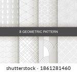 set of vector seamless... | Shutterstock .eps vector #1861281460