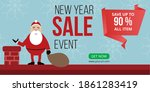 new year sale event banner... | Shutterstock .eps vector #1861283419