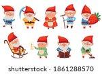fantastic male and female gnome ... | Shutterstock .eps vector #1861288570