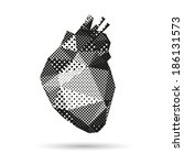 heart abstract isolated on a...   Shutterstock .eps vector #186131573