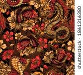 vintage japanese elements... | Shutterstock .eps vector #1861316380