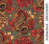 japanese style vintage seamless ... | Shutterstock .eps vector #1861316383