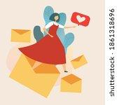 Paper Love Letter  Woman...