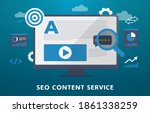 seo content service concept... | Shutterstock .eps vector #1861338259