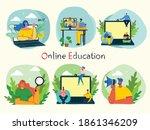 webinar online concept...   Shutterstock .eps vector #1861346209
