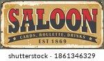 old saloon sign design concept. ...   Shutterstock .eps vector #1861346329