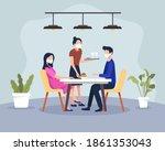 couple having dinner in a... | Shutterstock .eps vector #1861353043