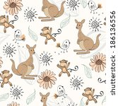 Hand Draw Seamless Pattern With ...