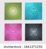 cool vinyl records music album...   Shutterstock .eps vector #1861371250