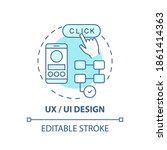 ux and ui design concept icon....
