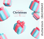 merry christmas and happy new... | Shutterstock .eps vector #1861440643