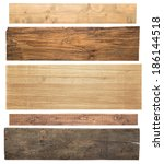 Wooden Planks Isolated On Whit...
