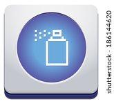 spray button   Shutterstock .eps vector #186144620