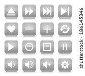 16 media control icon set 06.... | Shutterstock .eps vector #186145346