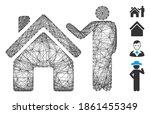 vector wire frame realty buyer. ...   Shutterstock .eps vector #1861455349