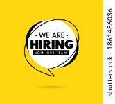 we are hiring recruitment... | Shutterstock .eps vector #1861486036