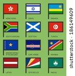 flags of the world  flat vector ...   Shutterstock .eps vector #186149609