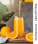 Still Life With Fresh Orange...