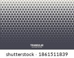 triangles halftone pattern... | Shutterstock .eps vector #1861511839