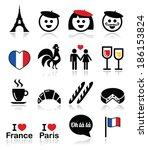 France  I Love Paris Vector...
