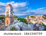 The old town of Chora in island Skiathos, Greece