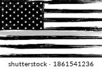 grunge usa flag with a thin... | Shutterstock . vector #1861541236