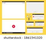 flat browser window  audio...
