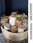 Firewood Birch Logs In A Basket ...
