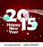 2015 happy new year | Shutterstock . vector #186154469