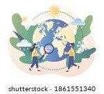 meteorology science. world... | Shutterstock .eps vector #1861551340