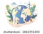 meteorology science. world... | Shutterstock .eps vector #1861551343