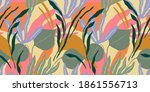 artistic seamless pattern with... | Shutterstock .eps vector #1861556713