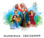 first president of turkey... | Shutterstock .eps vector #1861569499