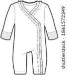 Baby Bodysuit Flat Sketch...