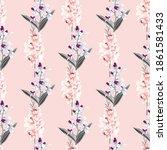 seamless pattern beautiful pink ... | Shutterstock .eps vector #1861581433